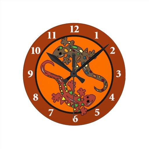 Gecko Lizard Mexican Theme Wall Clock