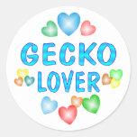 GECKO LOVER CLASSIC ROUND STICKER
