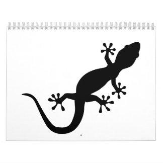 Gecko negro calendarios