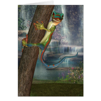 Gecko On A Tree Note Card