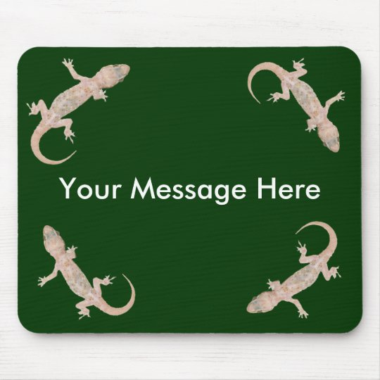 Gecko Pad With Your Message Mouse Pad
