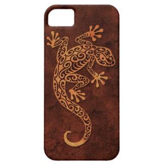 Gecko que sube de la piedra de Brown iPhone 5 Case-Mate Coberturas