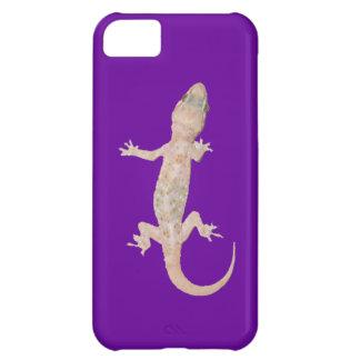 Gecko que sube en púrpura funda para iPhone 5C