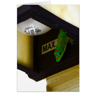 Gecko  Rental Property Greeting Card