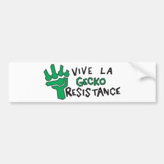 Gecko Resistance Bumper Sticker