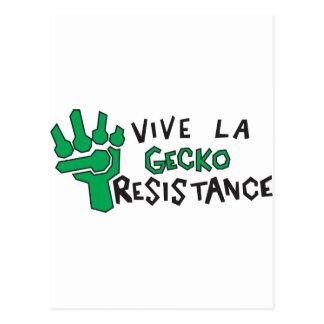 Gecko Resistance Postcard