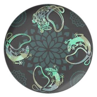 Gecko Retro Plate
