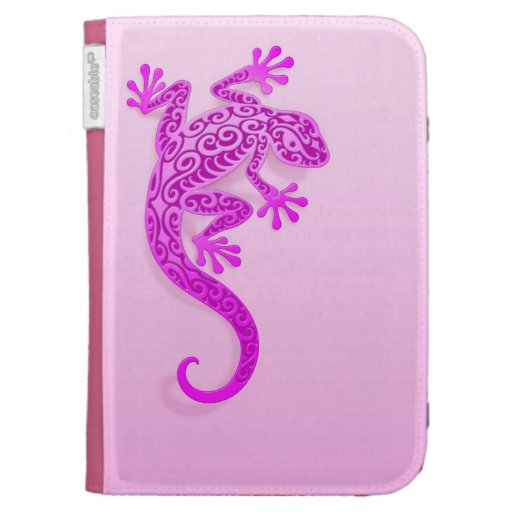 Gecko rosado que sube