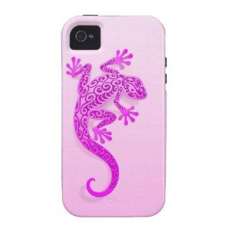Gecko rosado que sube iPhone 4 carcasas