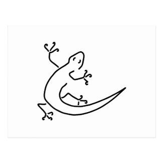 gecko salamander scrapper-cleaning bionics postcard