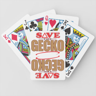 Gecko Save Bicycle Playing Cards