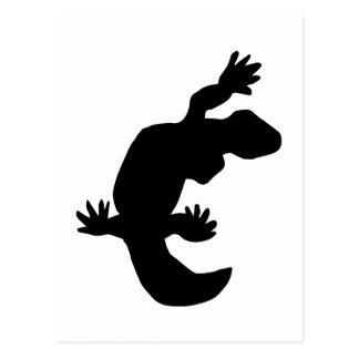 Gecko Silhouette Postcard