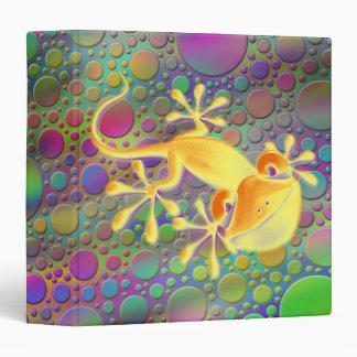 """Gecko sonriente - puntos coloreados carpeta 1 1/2"""""""