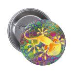 Gecko sonriente - puntos coloreados pin