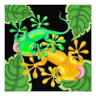 """Gecko - SRF Invitación 5.25"""" X 5.25"""""""