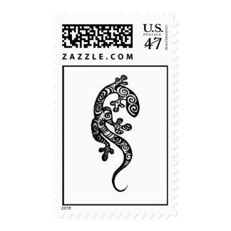 Gecko Stamp: Original Henna Drawing by Cynthia McD Postage