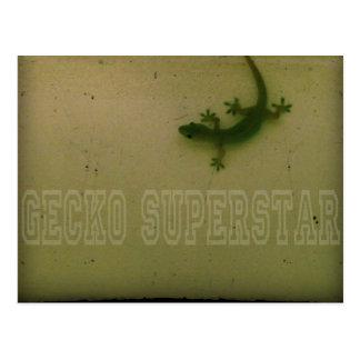 Gecko Superstar Postcard