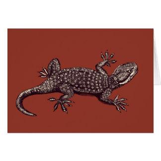 Gecko Tarjeta De Felicitación