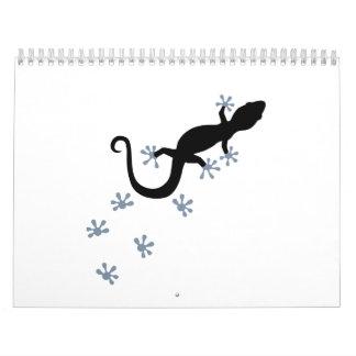 Gecko tracks calendar