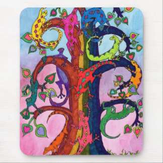 Gecko Tree of Life Mouse Pad
