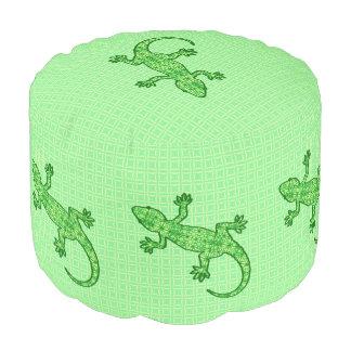 Gecko tribal del batik - cal y verde esmeralda