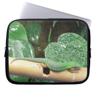 Gecko verde funda portátil