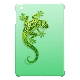 Gecko verde que sube