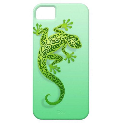 Gecko verde que sube iPhone 5 carcasa