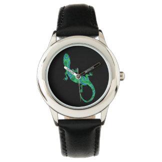 Gecko verde relojes