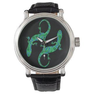 Gecko verde relojes de mano