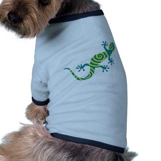 Gecko verde camiseta con mangas para perro