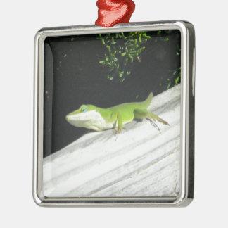 Gecko verde salvaje adorno de navidad
