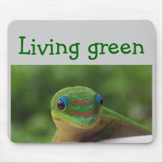Gecko verde alfombrilla de raton