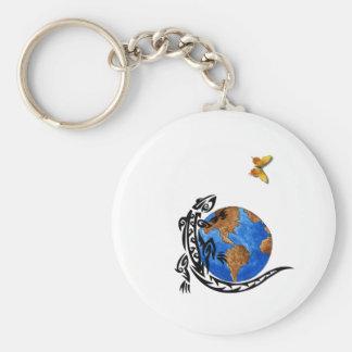 Gecko World Basic Round Button Keychain