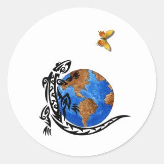 Gecko World Classic Round Sticker