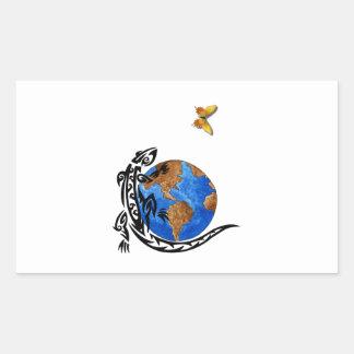 Gecko World Rectangular Sticker