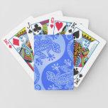 Geckos azules de Yin Yang Baraja Cartas De Poker