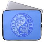 Geckos azules de Yin Yang Fundas Portátiles