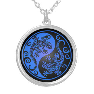 Geckos azules y negros de Yin Yang Collar