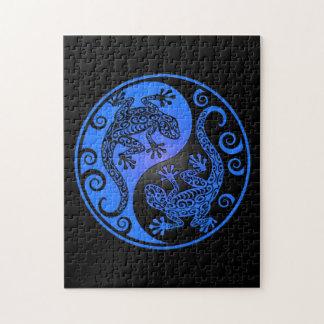 Geckos azules y negros de Yin Yang Puzzles Con Fotos