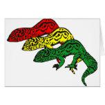 Geckos de Rasta Tarjeta De Felicitación