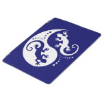 Geckos de YIN y de YANG blancos + su fondo y idea Cover De iPad