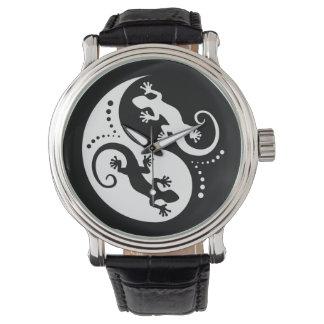 Geckos de YIN y de YANG blancos + su idea Relojes