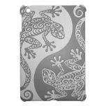 Geckos de Yin Yang, efecto del acero inoxidable iPad Mini Carcasas