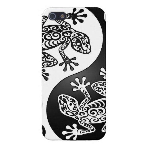 Geckos de Yin Yang iPhone 5 Cobertura