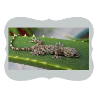 """Geckos en licencia del cactus invitación 5"""" x 7"""""""