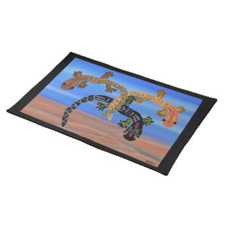 Geckos in the Valley of Fire Custom Placemats