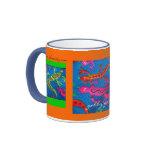 Geckos locuaces café y taza del té