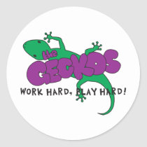 Geckos Logo Classic Round Sticker
