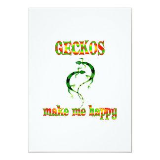Geckos Make Me Happy Cards